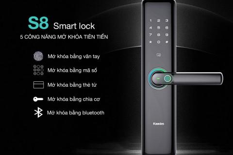 Hướng dẫn cài đặt khoá điện tử vân tay Kaadas S8 dễ hiểu, đầy đủ nhất