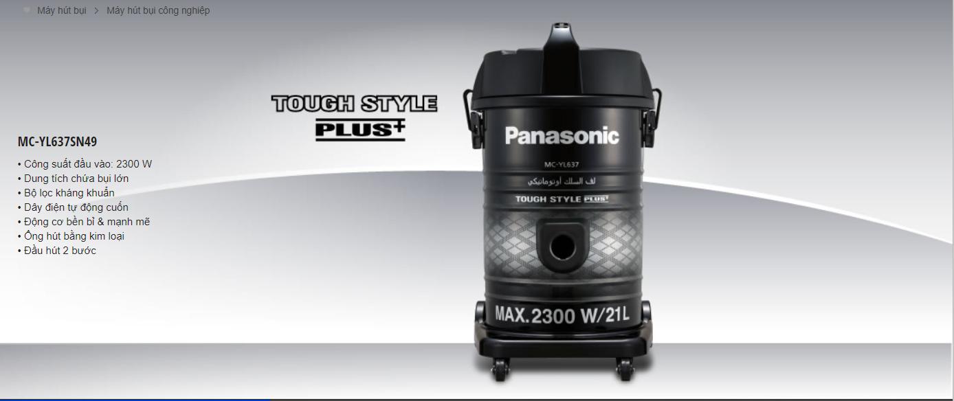Máy hút bụi công nghiệp Panasonic MC-YL637SN49-2300W - TDTPRO